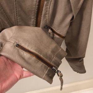 Free People Jackets & Coats - Free People Cropped Leather Jacket